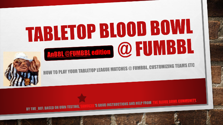 Tabletop Blood Bowl @ FUMBBL